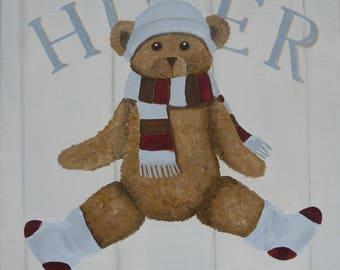 CANVAS Teddy bear children's bedroom - Ref. Winter