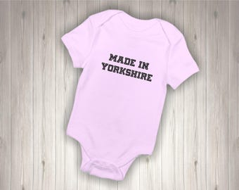 Personalised  Baby Bodysuit MADE IN COUNTY