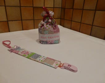 Baby pacifier and a small bag - OWL Huguette