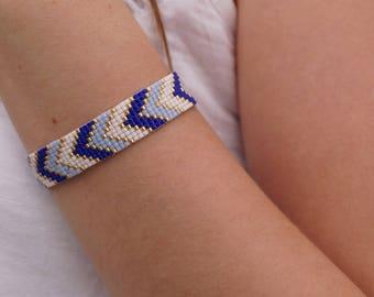 Blue color woven bracelet