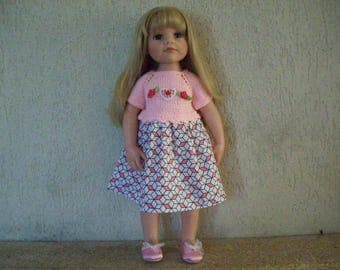 clothes for dolls from 50 cm, cotton dress, fits gotz, maru and friends