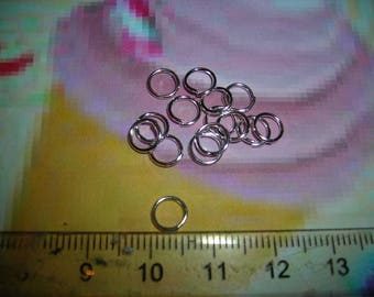 50 5mm jump rings silver shiny