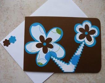 Map double occasions various chocolate and turquoise flowers