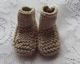 Brown Baby booties, baby.