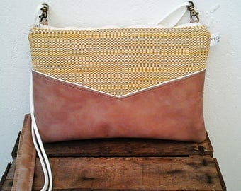 Chacha yellow clutch bag