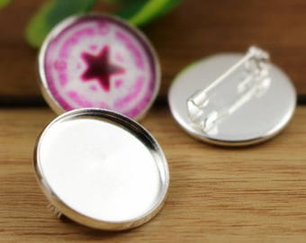 20 MM/5 Supports brooch cabochon