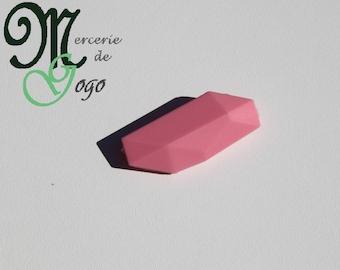 Pink Pearl silicone flat geometric shape.