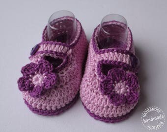 Chaussons ballerines 3/6 mois mauves