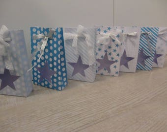 Bristol with window - Theme Christmas blue and white gift bag