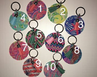 Lilly Keychains with Tassels