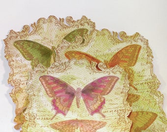 Set of labels decorative Butterfly