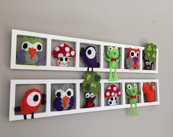 Decorative wall frame for baby and children's room. Made to order!