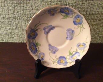 Vintage Poppy Radfords Fenton Bone China Saucer - England