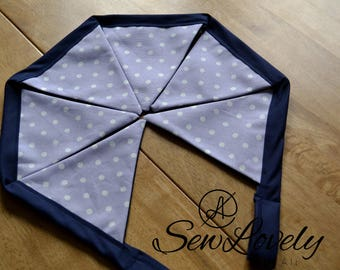 Beautiful Decorative Bunting/Lilac Polka Dot Bunting/Baby Girl Bunting/Nursery Decor