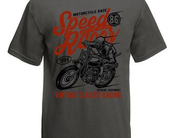 Motorcycle speed racer 86 t-shirt