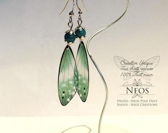 Fairy earrings, large, green water model
