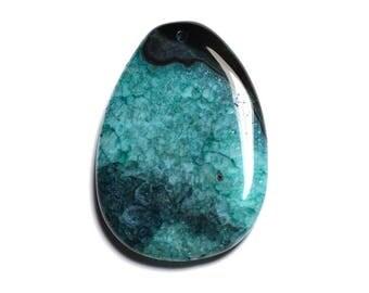 Drop 57 mm - 8741140001428 N19 - Pendant - black Agate and turquoise blue Quartz gemstones