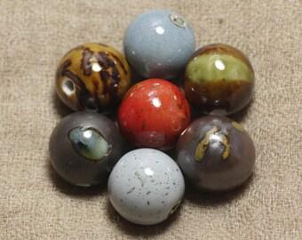 Set choice - large 20 mm ceramic beads - 100pc 4558550037312 bag