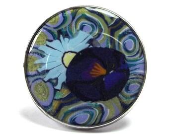 Round Ring 2.4 cm violet