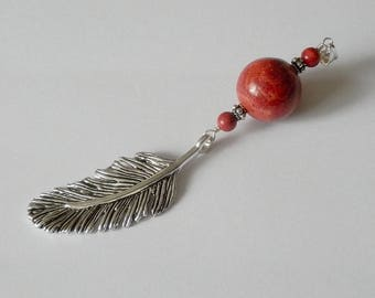 Feather pendant Hoel mixed M/F Gorgon charm