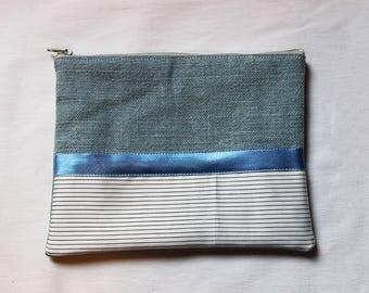 Ella blue pouch