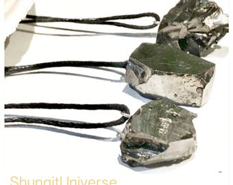 On sale! 3 elite shungite pendants for a wholesale price! EMF protection,chakra healing and balancing,reiki,yoga,meditation, pagan,shamanic