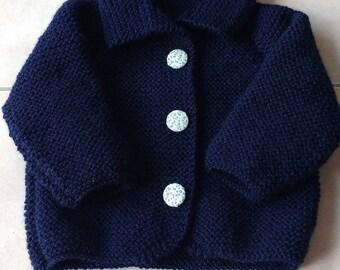 blue vest with button closure
