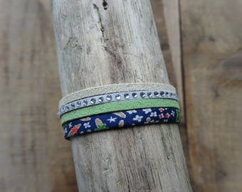 Liberty of London and suede cord bracelet