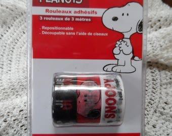 masking tape lot de 3 rouleaux adhésifs PEANUTS, SNOOPY petit chien