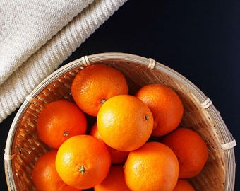 Oranges Food Photography Print, Fine Art Prints, Wall Art for Kitchen, Home Decor
