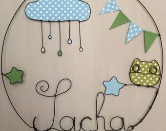 Name personalized wire - wall decor for child's room