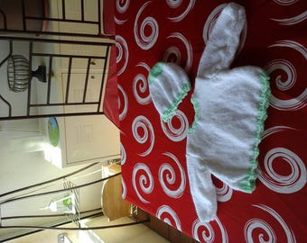 Jacket and hat green and white set