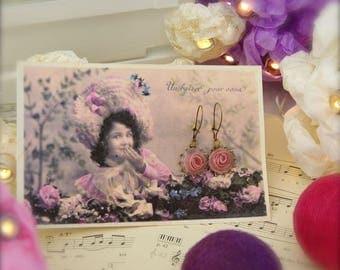 Earrings 'Les Bouquets' Rose