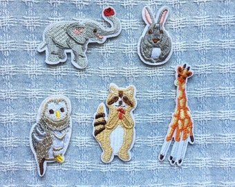 Animal Patch - Iron on Patch, Sew On Patch, Embroidered Patch