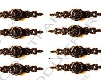 Set of 8 handle button color Bronze darkened filing drawer cabinet de craft locker 64 x 14 mm