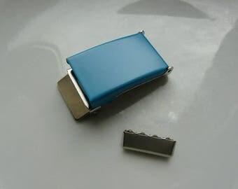 25 mm turquoise metal belt buckles