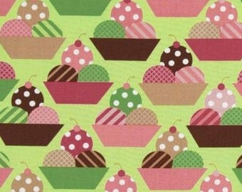 Patchwork fabric ice green Kaufman