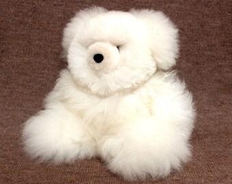 SALE 15% OFF* 100 Percent Baby Alpaca Fur Teddy Bear Plush Very Soft and Cute Bolivian Peruvian Alpaca cozy stuffed animal