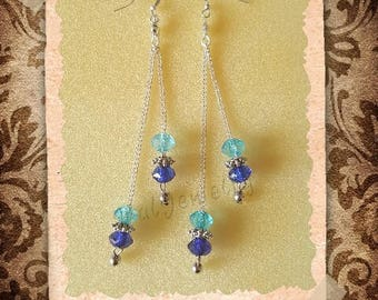 Earrings and beads on chain