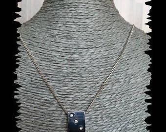 Charm with Rhinestones and metal chain