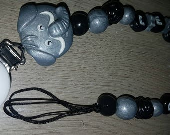 Pacifier animals (elephants) to be personalized with name
