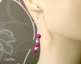 Cascadia - Earrings pearls and white
