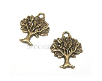 2 charm tree bronze 21mm pendant M01832-03