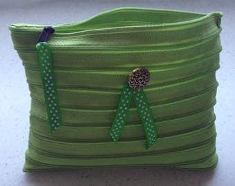 Lime color Zip pouch