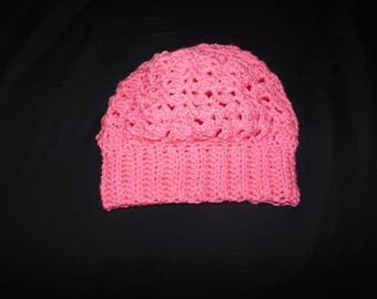 Pink Berry Slouch Hat - Adult Size