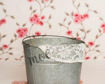 Floral Backdrop with Bucket Digital Image - 300 dpi - high resolution digital image