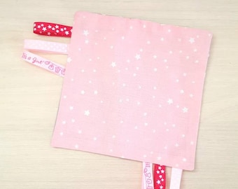 Taggy starry pink/gray