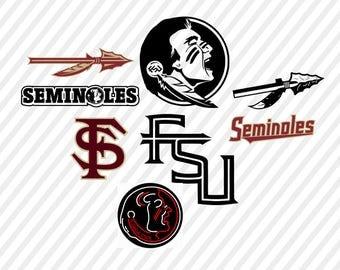 florida state seminoles svg, fsu digital file, cricut file, silhouette files, svg cutting files, dxf file, florida university vector file