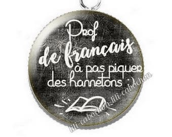 Cabochon resin cameo for french teacher