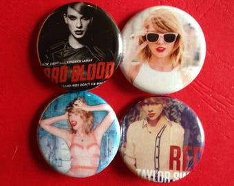 """TAYLOR SWIFT set of 4 buttons 1.25"""""""